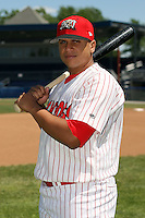 June 30th, 2007:  Steve Gonzalez of the Batavia Muckdogs, Short-Season Class-A affiliate of the St. Louis Cardinals at Dwyer Stadium in Batavia, NY.  Photo by:  Mike Janes/Four Seam Images