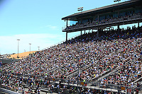 Jul. 27, 2014; Sonoma, CA, USA; NHRA fans in the grandstands during the Sonoma Nationals at Sonoma Raceway. Mandatory Credit: Mark J. Rebilas-
