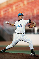 Jeremy Fikac of the Rancho Cucamonga Quakes during a California League baseball game at The Epicenter circa 1999 in Rancho Cucamonga,CA. (Larry Goren/Four Seam Images)