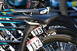 Astana Pro Team Argon 18 bikes lined up before the start of the 104th edition of La Doyenne, Liege-Bastogne-Liege 2018 running 258.5km from Liege to Ans, Belgium. 22nd April 2018.<br /> Picture: ASO/Karen Edwards | Cyclefile<br /> <br /> <br /> All photos usage must carry mandatory copyright credit (&copy; Cyclefile | ASO/Karen Edwards)