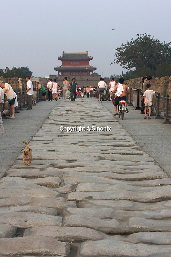 The Lugou Bridge, Beijing, China. The historical bridge where triggered the Sino-Japanese war in 1937..02 Aug 2008