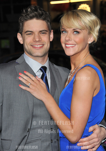 "Jeremy Jordan & fiancée Ashley Spencer at the world premiere of his new movie ""Joyful Noise"" at Grauman's Chinese Theatre, Hollywood..January 9, 2012  Los Angeles, CA.Picture: Paul Smith / Featureflash"