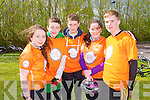 Michelle Joy, Tom Geaney, Dylan Sheahan, Caoimhe Lynch and James McAuilfe from Killarney who took part in the Cycle Against Suicide at the IT Tralee north campus on Friday.