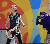NEW YORK, NY - May 17: Mike Print of Green Day performs on ABC's 'Good Morning America' at Rumsey Field in Central Park on May 19, 2017 in New York City. @John Palmer / Media Punch