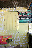 JAMAICA, Port Antonio. A small food shack at the Winnifred Beach.