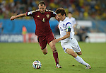 Sergei Ignashevich (RUS), Koo Ja-Cheol (KOR),<br /> JUNE 17, 2014 - Football / Soccer :<br /> FIFA World Cup Brazil 2014 Group H match between Russia 1-1 South Korea at Arena Pantanal in Cuiaba, Brazil. (Photo by SONG Seak-In/AFLO)