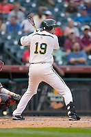 Dustin Dickerson #19 of the Baylor Bears at bat versus the Houston Cougars in the 2009 Houston College Classic at Minute Maid Park February 27, 2009 in Houston, TX.  The Bears defeated the Cougars 3-2. (Photo by Brian Westerholt / Four Seam Images)