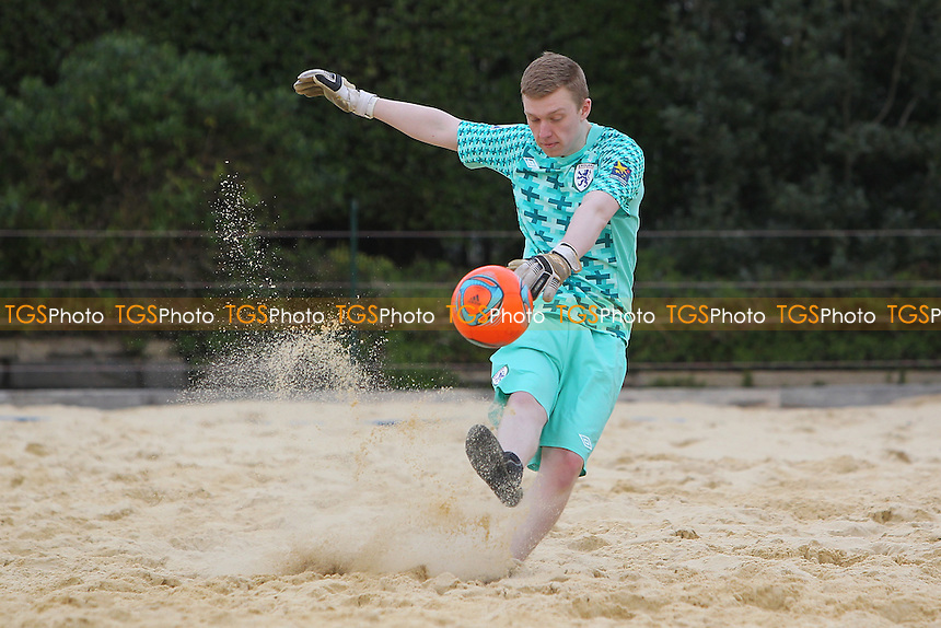 Beach Football at Loxford Park, Ilford, Essex - 27/04/13 - MANDATORY CREDIT: Gavin Ellis/TGSPHOTO - Self billing applies where appropriate - 0845 094 6026 - contact@tgsphoto.co.uk - NO UNPAID USE.