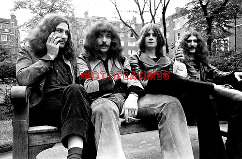 Black Sabbath 1970 Bill Ward Tony Iommi Ozzy Osbourne and Geezer Butler