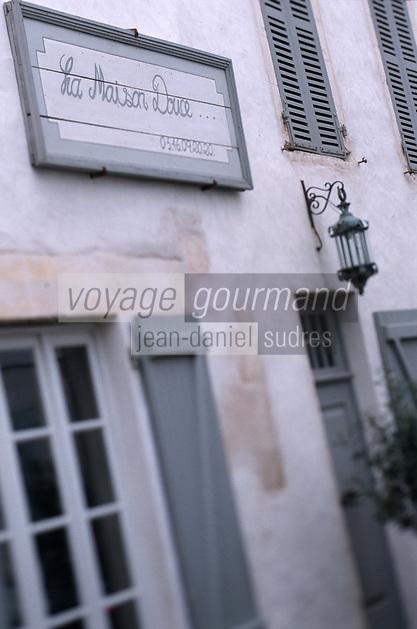 """France/17/Charente Maritime/ Ile de Ré/St Martin de Ré: Maison d'Hotes """"La Maison Douce"""" détail"""