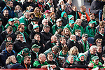17.03.2019, BayArena, Leverkusen, GER, 1. FBL, Bayer 04 Leverkusen vs. SV Werder Bremen,<br />  <br /> DFL regulations prohibit any use of photographs as image sequences and/or quasi-video<br /> <br /> im Bild / picture shows: <br /> Fans Bremer<br /> <br /> Foto © nordphoto / Meuter