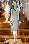 Rosa Dolores dress shown at the Catherine Martin and Muccia Prada Dress Gatsby display at Prada store in SOHO, NYC May 4, 2013.