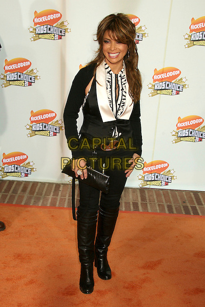 PAULA ABDUL.Nickelodeon's 20th Annual Kids' Choice Awards at UCLA's Pauley Pavilion, Westwood, California , USA,  .31 March 2007..full length black trousers YSL belt waistcoat white shirt.CAP/ADM/BP.©Byron Purvis/AdMedia/Capital Pictures.