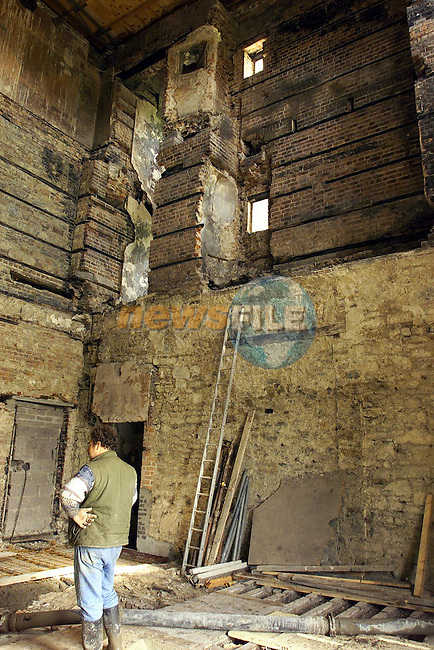 Slane Castle Restoration. the inside of the castle, just a shell right up to the roof.Picture: Fran Caffrey/Newsfile