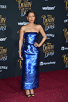 Gugu Mbatha-Raw at the premiere for Disney's &quot;Beauty and the Beast&quot; at El Capitan Theatre, Hollywood. Los Angeles, USA 02 March  2017<br /> Picture: Paul Smith/Featureflash/SilverHub 0208 004 5359 sales@silverhubmedia.com