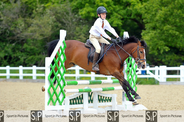 Class 5. 75cm Trailblazers. Unaffiliated Showjumping. Brook Farm Training Centre. Essex. 24/05/2015. MANDATORY Credit Ellie Ingram/Sportinpictures - NO UNAUTHORISED USE - 07837 394578