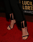 Cobie Smulders, shoe and aslacks detail,  attends 32nd Annual Lucille Lortel Awards at NYU Skirball Center on May 7, 2017 in New York City.