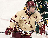 Patrick Wey (BC - 6) - The Boston College Eagles defeated the visiting University of Vermont Catamounts to sweep their quarterfinal matchup on Saturday, March 16, 2013, at Kelley Rink in Conte Forum in Chestnut Hill, Massachusetts.