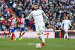 Real Madrid´s Sergio Ramos during 2015/16 La Liga match between Real Madrid and Atletico de Madrid at Santiago Bernabeu stadium in Madrid, Spain. February 27, 2016. (ALTERPHOTOS/Victor Blanco)