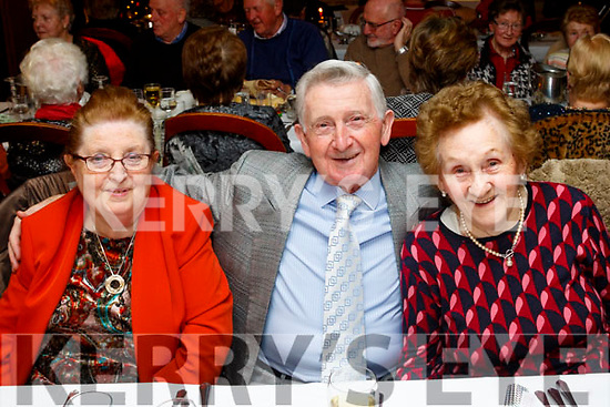 L-R Mary&Michael manga with Nora Carmody from Lyrecrumpane at the Slieve Luachra Active retirement annual Christmas party in the River Island hotel, Castleisland last Friday night.