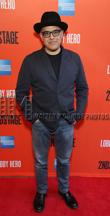 """David Yazbeck attending the Broadway Opening Night Performance of  """"Lobby Hero"""" at The Hayes Theatre on March 26, 2018 in New York City."""