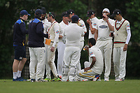 Drinks are taken during Shenfield CC (batting) vs Hornchurch CC (Bowling) ,Shepherd Neame Essex League Cricket at Chelmsford Road on 12th May 2018