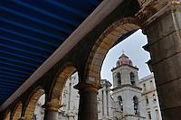 TH0279-Dm. A church in Old Havana (Habana Vieja in Spanish). Havana, Cuba.<br /> Photo Copyright &copy; Brandon Cole. All rights reserved worldwide.  www.brandoncole.com