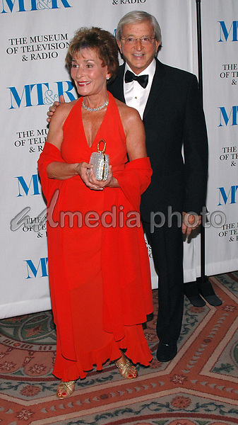 26 May 2005 - New York, New York - Judge Judy Sheindlin and her husband Jerry arrive at The Museum of Television and Radio's Annual Gala where Merv Griffin is being honored for his award winning career in radio and television.<br />Photo Credit: Patti Ouderkirk