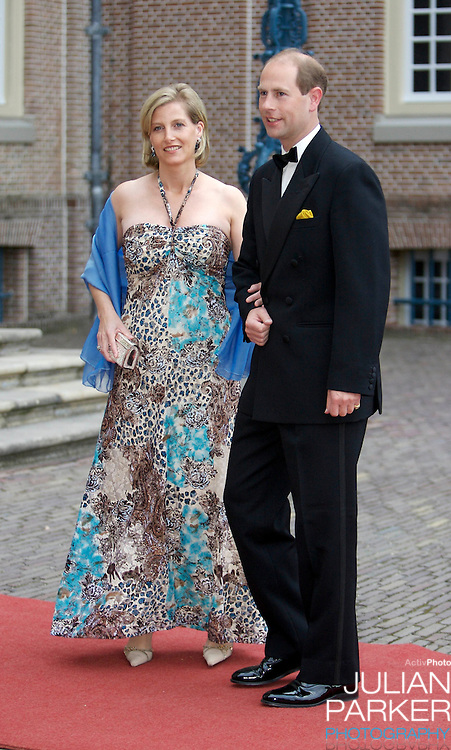 The Earl and Countess of Wessex, arrive for a Reception at Het Loo Palace in Apeldoorn, to celebrate the 40th Birthday of Crown Prince Willem Alexander, The Prince turned forty in April earlier this year.