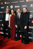 Dr. Bonaventura Clotet, Director of Fundacion Lucha Contra el SIDA; model Martina Klein, ex tenis player Alex Corretja and singer Miguel Bose during Barcelona 5th AIDS Ceremony. November 24,2014.(ALTERPHOTOS/Acero) /NortePhoto<br />