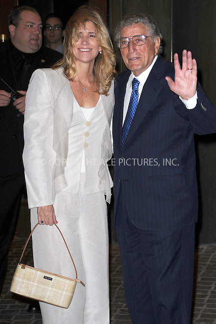 WWW.ACEPIXS.COM . . . . . .October 12, 2010, New York City...Susan Crow and Tony Bennett attend the screening of 'Conviction' at Tribeca Grand Hotel on October 12, 2010 in New York City....Please byline: KRISTIN CALLAHAN - ACEPIXS.COM.. . . . . . ..Ace Pictures, Inc: ..tel: (212) 243 8787 or (646) 769 0430..e-mail: info@acepixs.com..web: http://www.acepixs.com .