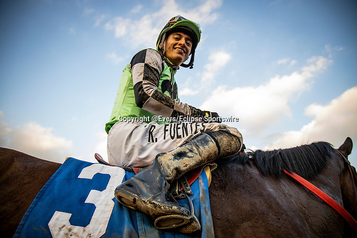JAN 11: Rueben Fuentes after winning the La Canada Stakes at Santa Anita Park in Arcadia, California on January 11, 2020. Evers/Eclipse Sportswire/CSM