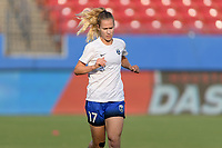 Frisco, TX - Sunday September 03, 2017: Beverly Yanez warming up during a regular season National Women's Soccer League (NWSL) match between the Houston Dash and the Seattle Reign FC at Toyota Stadium in Frisco Texas. The match was moved to Toyota Stadium in Frisco Texas due to Hurricane Harvey hitting Houston Texas.