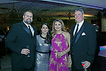 """020318MK01 (from left)  Chad and Teresa Wable with Krista and Chris Hayes recently gathered at the Saint Mary's Hospital Foundation held its 27th Annual Gala, """"A Night at Studio 54,"""" at the Aqua Turf Club in Plantsville. Michael Kabelka Republican - American."""
