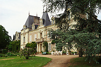 The main building and garden of Domaine du Closel Chateau des Vaults, Savennières Maine et Loire France