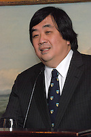 """Harold Hongju Koh, former Dean, Yale Law School speaker at the Maurice R. """"Hank"""" Greenberg Reception, 21 Club NYC 18 Sept 2007. Honoring the endowment of the David Boies Professorship of Law at Yale Law School."""