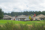 Houses on a golf course