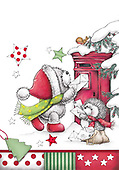 Sharon, CHRISTMAS ANIMALS, WEIHNACHTEN TIERE, NAVIDAD ANIMALES, GBSS, paintings+++++,GBSSC50XFCD,#XA# ,black,white