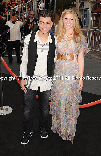 "ANAHEIM, CA - MAY 07: Adam Irigoyen and Caroline Sunshine arrive to the ""Pirates Of The Caribbean: On Stranger Tides"" World Premiere at Disneyland on May 7, 2011 in Anaheim, California."