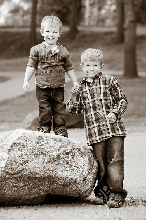 Photographs of the Jensen boys - Davis, 6, and Reid, 2,  taken in south Fargo, N.D., on Sunday, Sept. 5, 2010. Parents are Kirsten and Travis Jensen of Fargo. Photography by Ann Arbor Miller