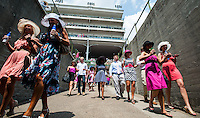 The scene for Kentucky Oaks Day at Churchill Downs in Louisville, Kentucky on May 4, 2012.