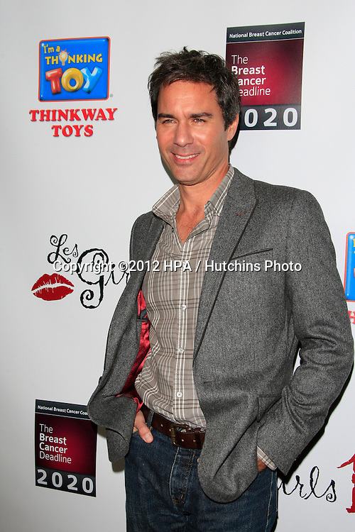 LOS ANGELES - OCT 15:  Eric McCormack arrives at the LES GIRLS 12th Annual Cabaret at Avalon Hollywood on October 15, 2012 in Los Angeles, CA