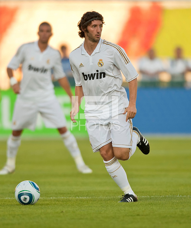 LOS ANGELES, CA – July 16, 2011: Esteban Granero (11) or Real Madrid during the match between LA Galaxy and Real Madrid at the Los Angeles Memorial Coliseum in Los Angeles, California. Final score Real Madrid 4, LA Galaxy 1.