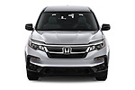 Car photography straight front view of a 2020 Honda Pilot LX 5 Door SUV