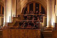 ATENÇÃO EDITOR: FOTO EMBARGADA PARA VEÍCULOS INTERNACIONAIS. - SAO PAULO, SP, 28 DE FEVEREIRO 2013 - Concerto de Abertura da Temporada Oficial da Osesp, Orquestra Sinfônica do Estado de São Paulo 2013 - Com presença do Prefeito de São Paulo Fernando Haddad, o Governador do Estado Geraldo Alckmin e o ex-presidente da republica Fernando Henrique Cardoso discursando na abertura..Local: Sala São Paulo - região central de São Paulo, nesta quarta-feira, 28.02. (FOTO: POLINE LYS / BRAZIL PHOTO PRESS).