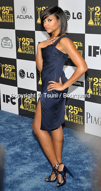 Taraji P Henson _43   -<br /> 25th Film Independent Spirit Awards at the Nokia Theatre In Los Angeles.