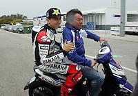 2012 Moto GP Test training Jererz Mar 24th. The picture show Jorge Lorenzo (Spanish rider Yamaha Factory Racing YAMAHA)