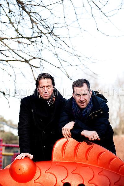 Former Belgian bicycle racers Mario De Clercq and Erwin Vervecken (Belgium, 17/01/2012)