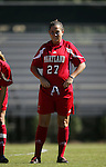 Danielle Malagari, of Maryland, on Sunday, October 16th, 2005 at Duke University's Koskinen Stadium in Durham, North Carolina. The Duke University Blue Devils defeated the University of Maryland Terrapins 1-0 during an NCAA Division I Women's Soccer game.