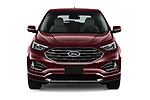 Car photography straight front view of a 2019 Ford Edge Titanium 5 Door SUV